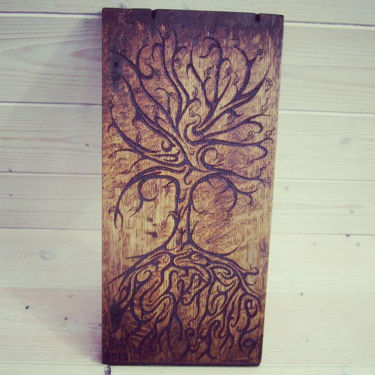 #treeoflife #pyrography #woodwosecarving