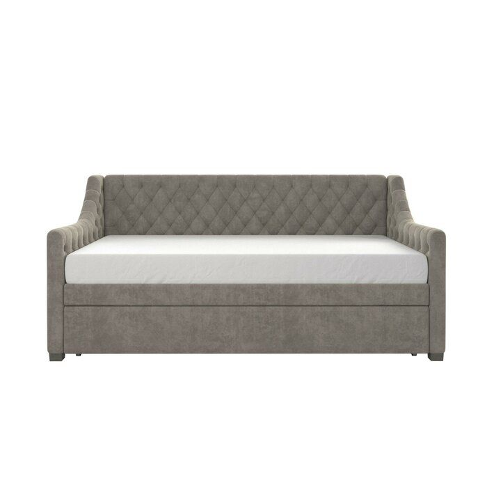 Monarch Hill Ambrosia Twin Daybed With Trundle In 2020 Twin Daybed With Trundle Daybed With Trundle Upholstered