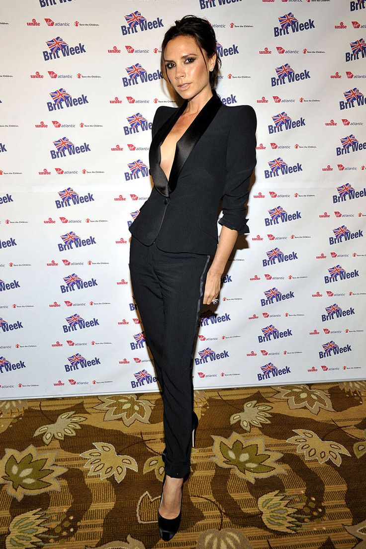 best ideas about women tuxedo wedding suits for victoria beckham wearing a sleek black suit women in suits female celebrities in pant