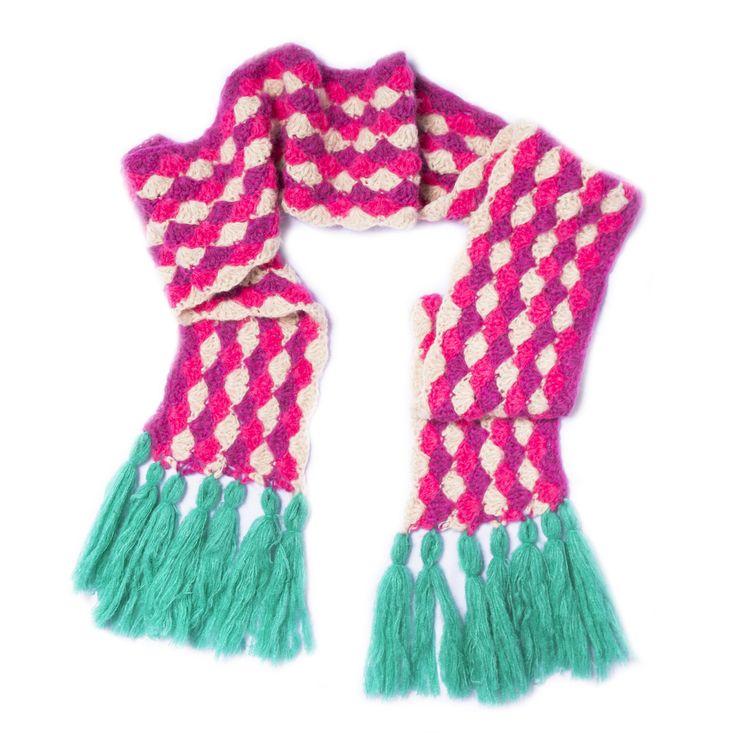 bufanda caramelo rosa