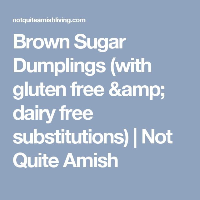 Brown Sugar Dumplings (with gluten free & dairy free substitutions) | Not Quite Amish