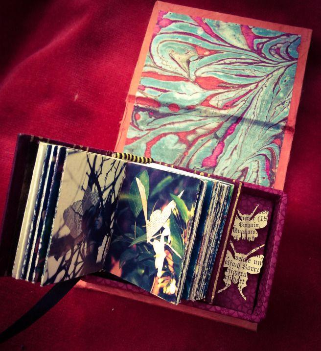 """Miniature book. """"A Paper Garden"""""""