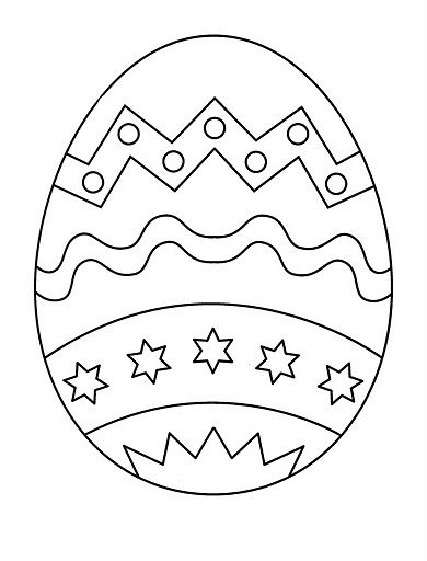 Huevo De Pascua Para Colorear Actividades Pascua