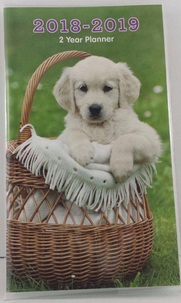 Puppy In A Basket Cute 2018 2019 Pocket