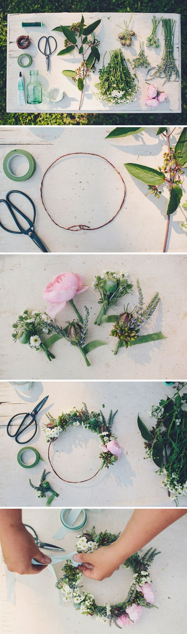 Floral Crown // DIY - walk in love. @kozientara for our next, more sturdy versions. :)