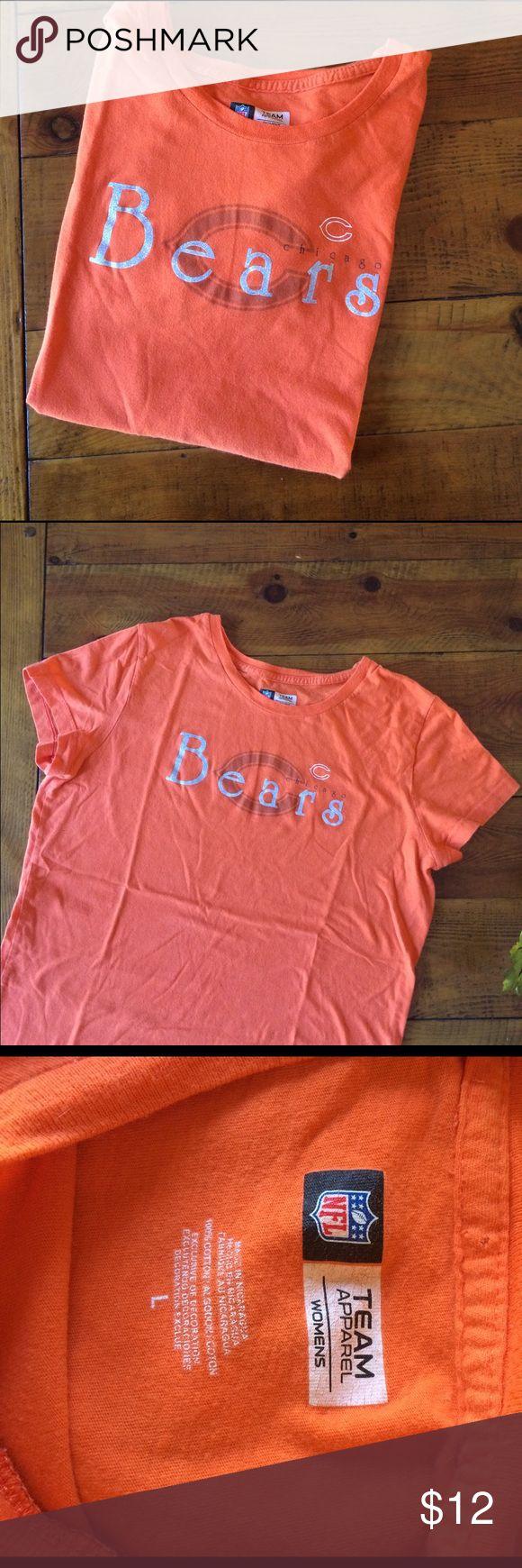 Chicago Bears Team Apparel Chicago Bears Team Apparel in Bears orange with silver logo. NFL Team Apparel Tops Tees - Short Sleeve