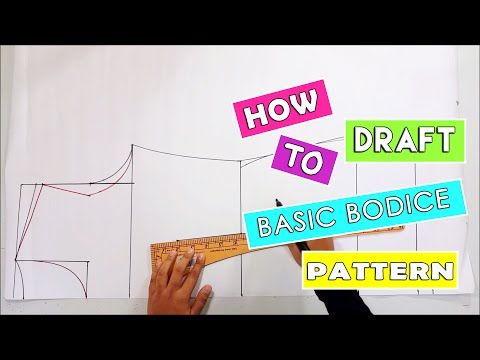 How to draft basic bodice pattern | Drafting pattern for kurung modern - YouTube
