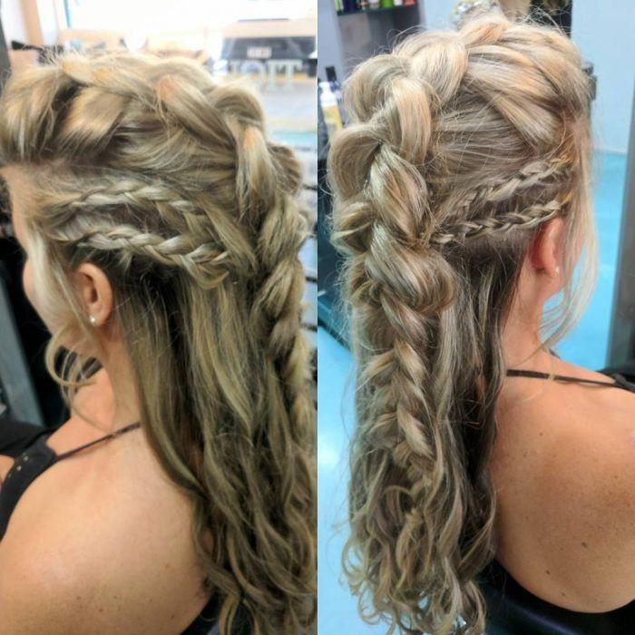 20 Looks De Cabello Inspirados En Lagertha De Vikingos Luce Ruda Y Femenina Con Trenzas De Guerrera Braids For Long Hair Viking Hair Hair Styles