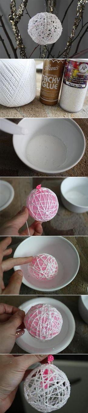 Cómo hacer unas bolas navideñas muy originales - #Bolas, #Cuerda, #Hilo, #Manualidades, #Navidad, #Navideñas http://navidad.es/14233/como-hacer-unas-bolas-navidenas-muy-originales/