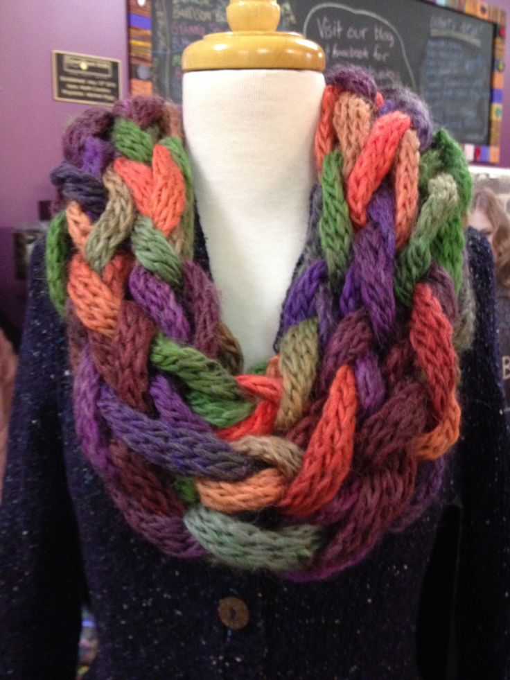 Arm Knitting Yarn : Arm knitted cowl made from berroco links knitting