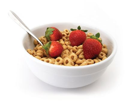Cereal and Strawberries: Late Night