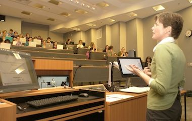 Distance learning at its best. Dalhouse University built an A/V system to connect 19 campuses with high-definition face to face lecture capture and videoconferencing capability and high quality audio visual technology.