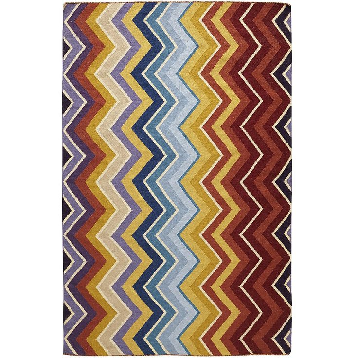 Vertical Chevron Rug - 8x10