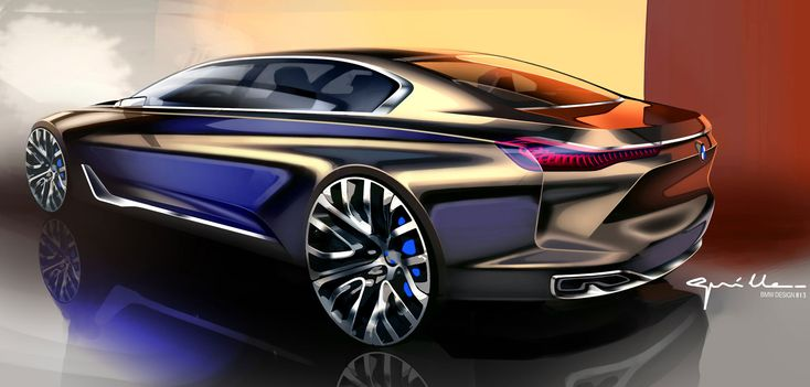 BMW Vision Future Luxury Concept - Design Sketch by Nicolas Guille