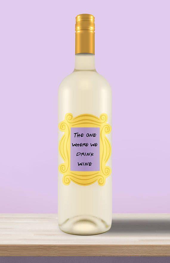 Die-cut, Friends themed wine bottle labels!