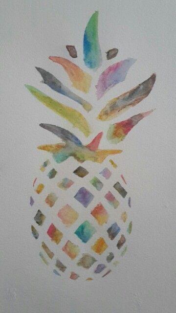 Ananas waterverf