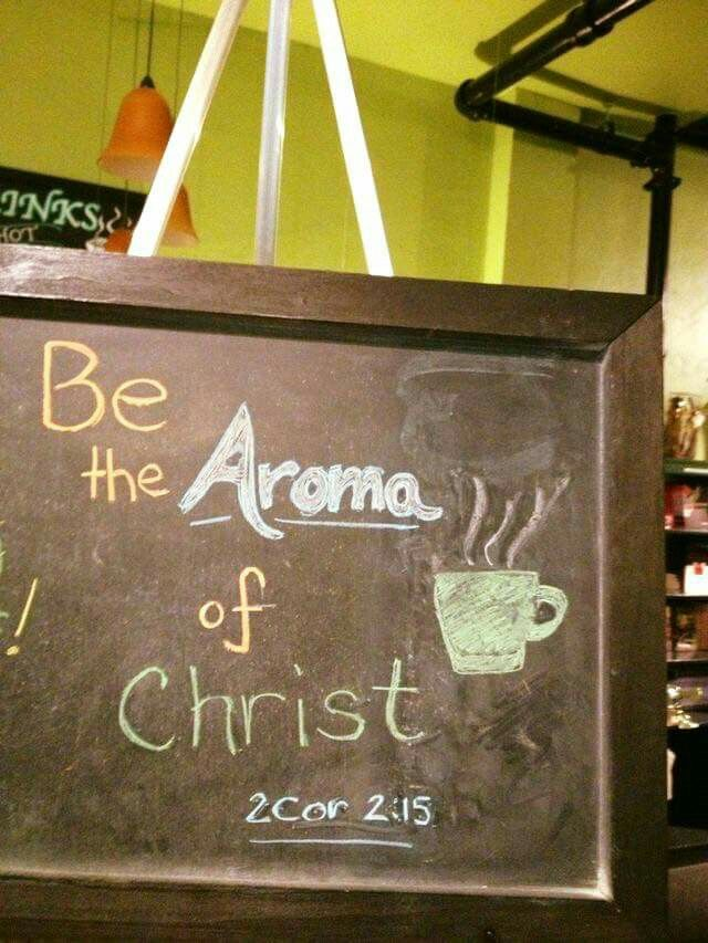 coffee shop scripture sunday aug 2013 be the aroma of christ 2 corinthians - Slate Cafe Ideas