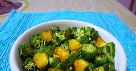 Aloo Bhindi (Potato & Lady Finger) Ingredients: 1-2 medium sized boiled potatoes 250 grms (lady finger) 1/...