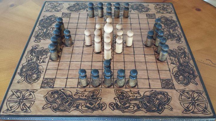 Hnefatafl Board Tawlbwrdd Viking Chess Tafl Handmade Board Made to Order   eBay