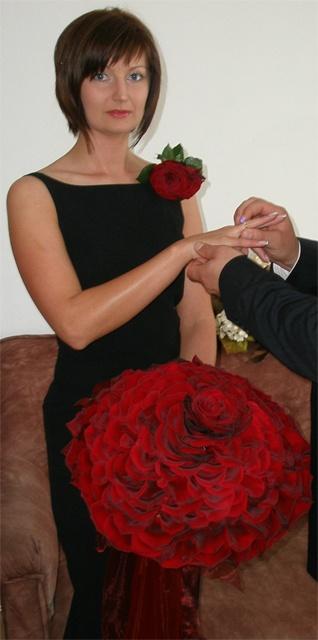 Bukiet z płatków róż. Wszystkie prawdziwe :)