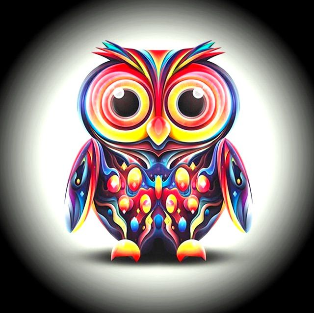 Free Owl Wallpapers: 229 Best Images About Colorful Owls On Pinterest