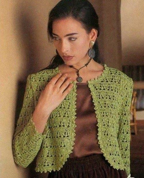 sweet green bolero ♪ ♪ ... #inspiration_crochet #diy GB