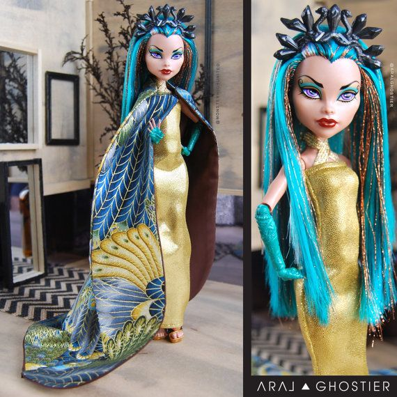 Monster Doll Goddess of Egypt by AralGhostier on Etsy