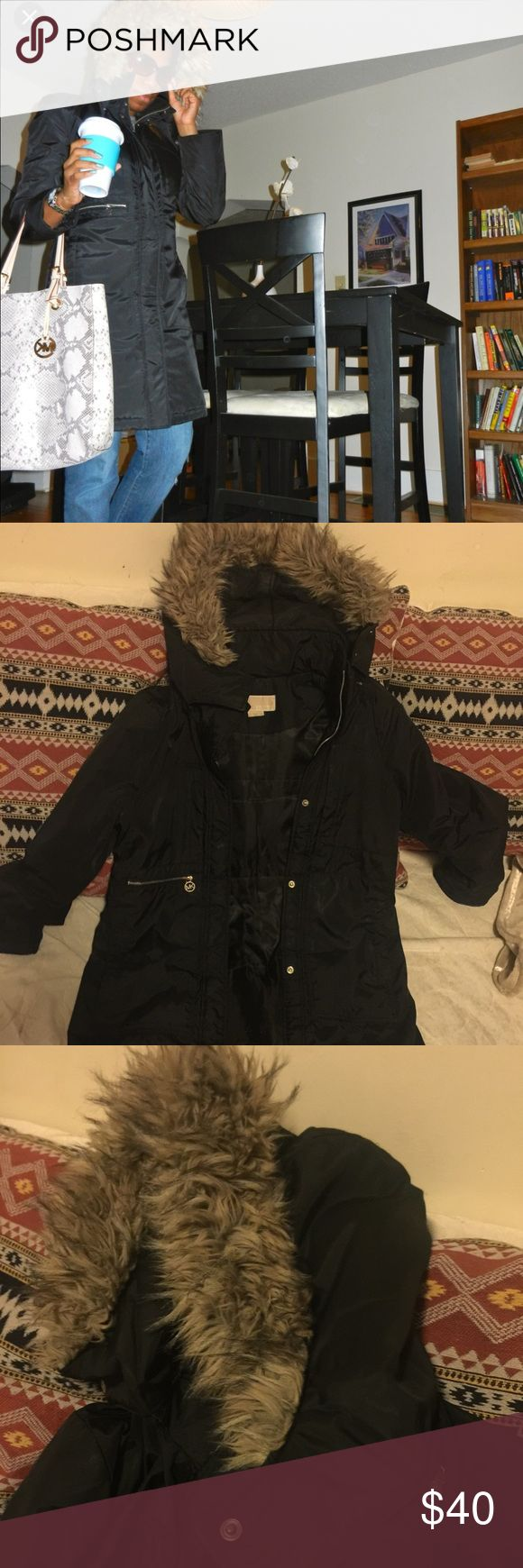 "Michael Kors puffer coat If you are looking for a warm stylist not quilted puffer coat, you have found one. I had this coat for about 3 years but I alternate with my other coats so there is still a lot of life left and is in great condition. The hood is detachable. I am 5'6"" and it reaches just above my knees. Michael Kors Jackets & Coats Puffers"