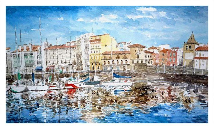 17 mejores im genes sobre cuadros de asturias en pinterest - Pintores en gijon ...