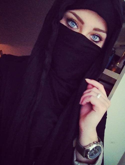 layer of niqab hiding the face