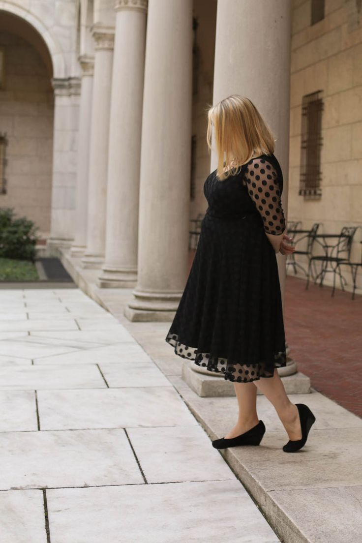 Polka dot overlay Turner Dress: fancy AND comfortable!