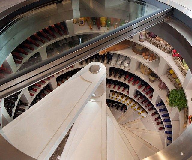 Underground Spiral Wine Cellar