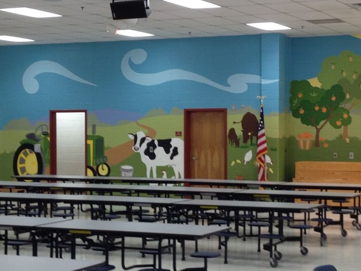 17 best images about cafeteria wall murals on pinterest for Elementary school mural ideas