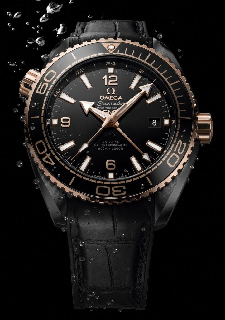 4f54d5abc97 Omega Seamaster Planet Ocean GMT Deep Black Watches In Ceramic Watch  Releases