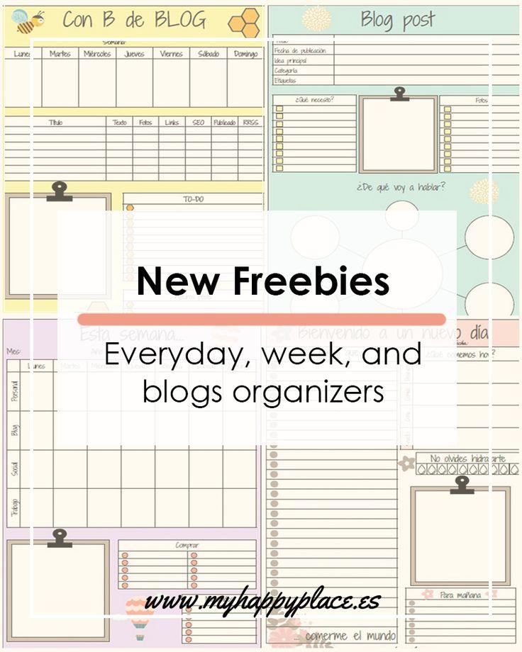 New Freebies. Download cute planner template to keep your life organize.// Nuevos descargables gratuitos. Descarga estos planificadores para tener tu vida organizada