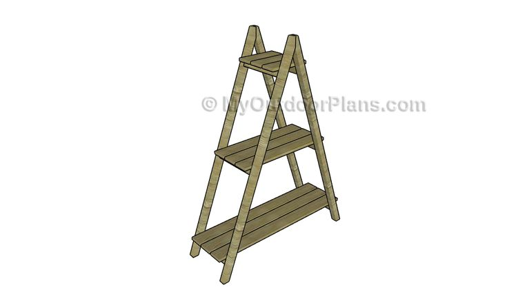 37 best plant stand plans images on pinterest for Free ladder stand plans