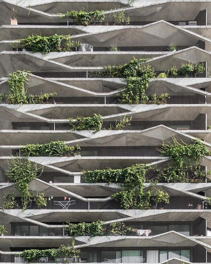 """14.3k Likes, 24 Comments - SUPER ARCHITECTS (@superarchitects) on Instagram: """"Let's start the week with some inspirational facade, shall we? Give me some green Facade of…"""""""