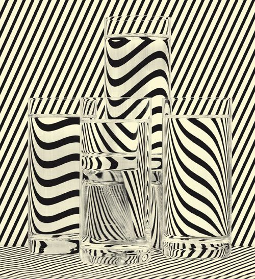 B&W lines and glass: Inspiration, Glasses, Pattern, Black White, Op Art, Stripes, Design