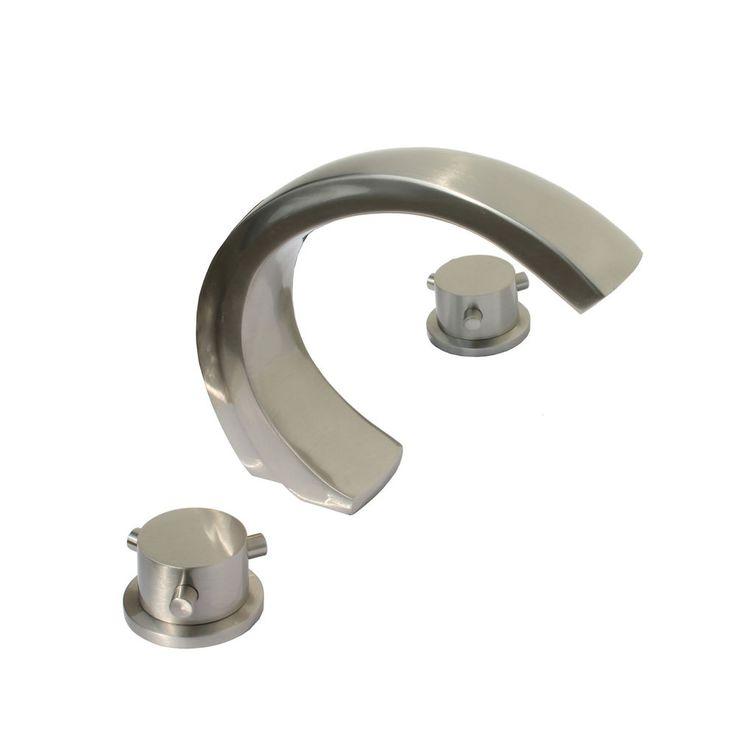 Kokols Wide Spread Bathroom Sink/ Tub Waterfall Brushed Nickel Faucet #Kokols