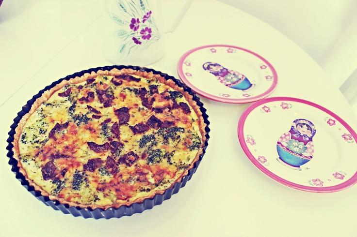 Quiche with broccoli duzosole.blogspot.com
