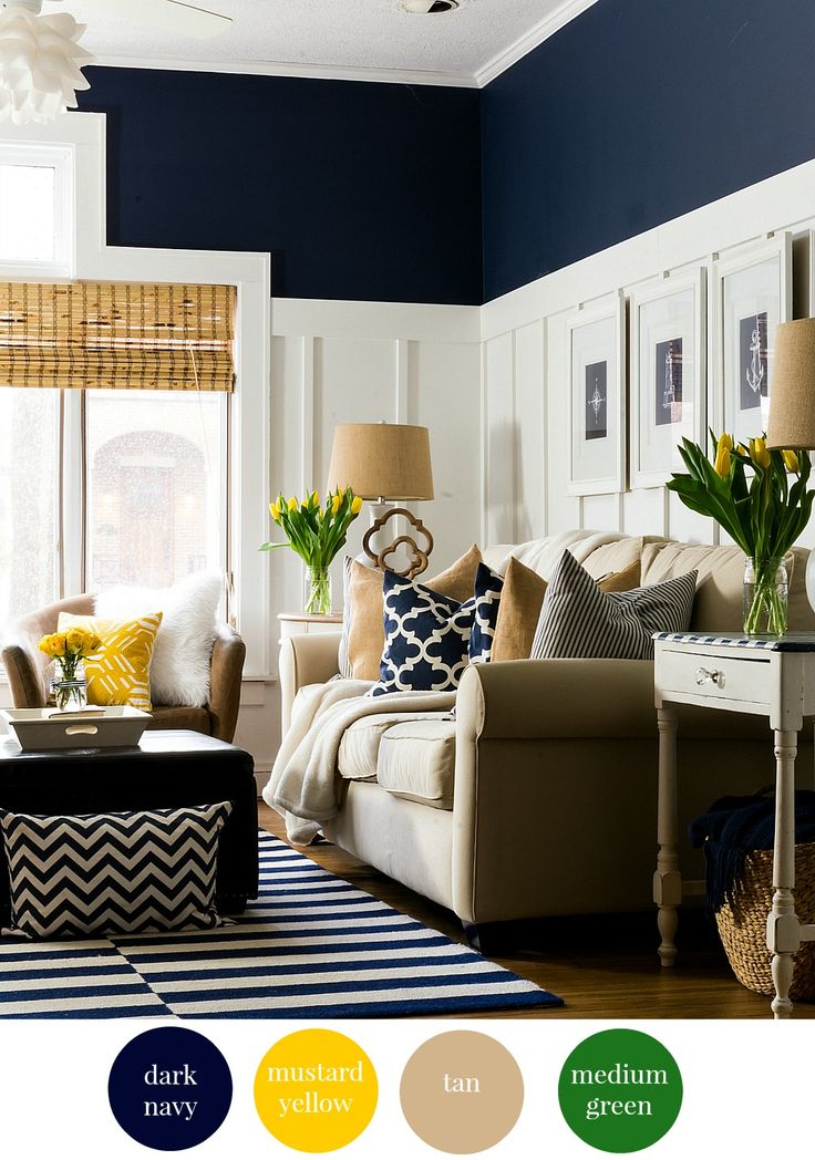 Choosing The Right Paint Colors + Design Inspiration. Living Room IdeasNavy  ... Part 93