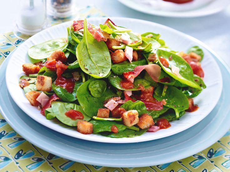 Best  Minuten Salat mit Schinken und Cro tons u so geht us