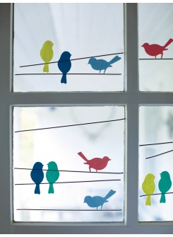 Bird Window Stickers - I need these for The Little Lady's bedroom.