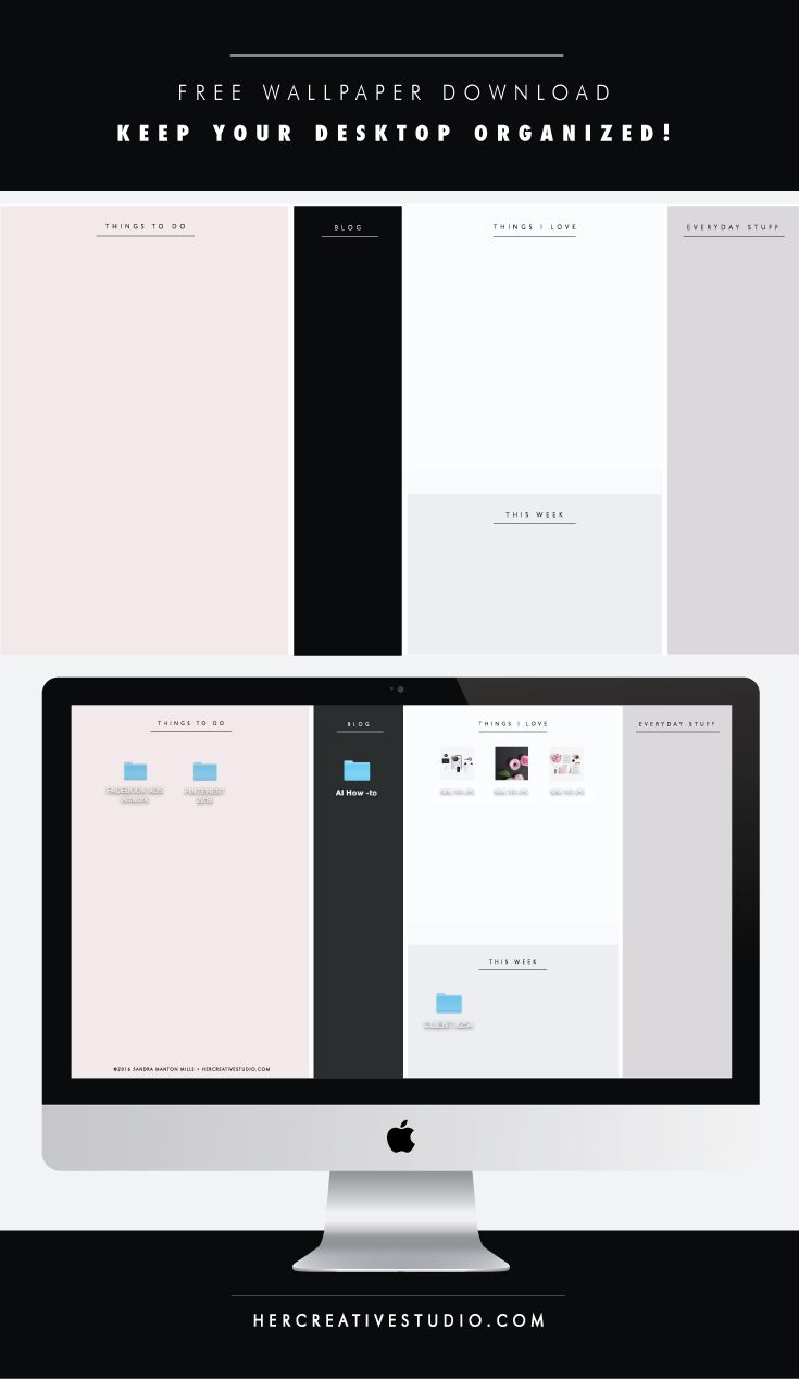 Professional, Feminine Desktop Wallpaper Download by Her Creative Studio.