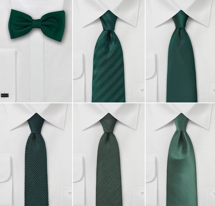 The best wedding ties in shades of forest green.