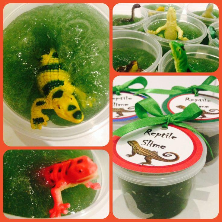 Reptile Party. Slime and goo! Made by Such Fun - www.suchfun.co.za