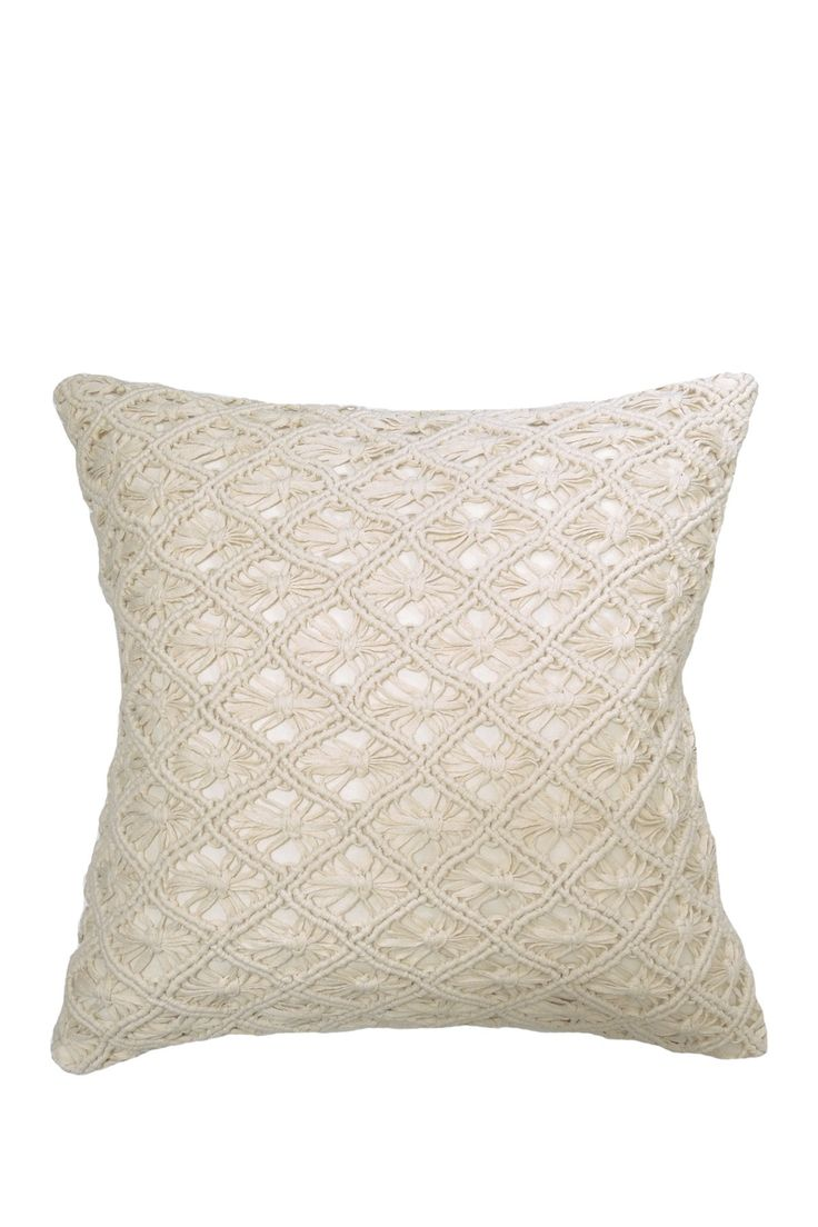 Solid Macrame Pillow - 20