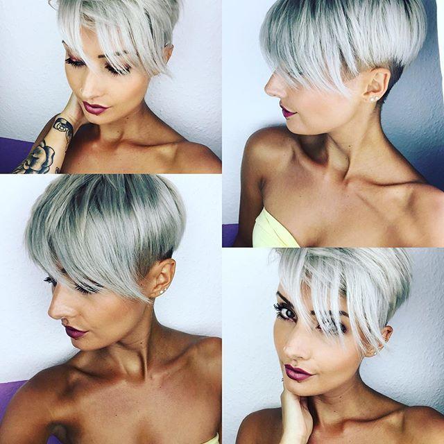 Shorthair LOVE ❤️✂️ #shorthair #kurzehaare #kurzhaarfrisuren #nothingbutpixies #hair #haircut #hairstyle #greyhair #undercut #pixie #pixies #pixiecut #sidecut #blonde #beauty #beautiful #love #amazing #photooftheday #selfie #stuttgart #0711