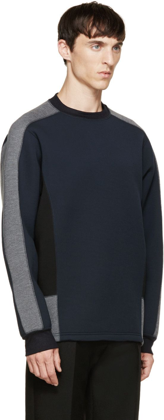 Kolor Navy Neoprene Sweatshirt