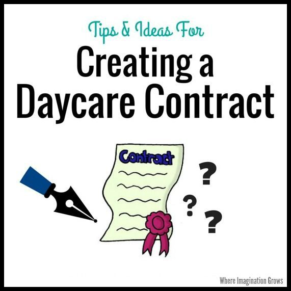 Tips on creating a home daycare contract for your in family child care program from an experienced provider. Do's and don'ts of parent handbooks/contracts